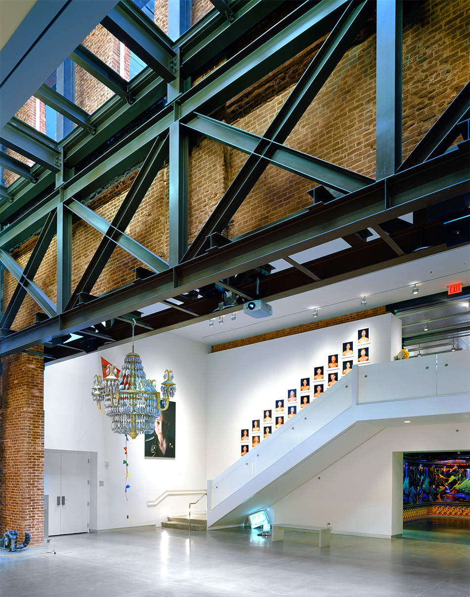 For the 21c Museum Hotel in Louisville, Kentucky, Berke connected five 19th-century warehouses and created a central atrium to display contemporary art. Photo by Catherine Tighe