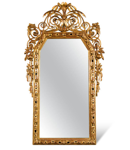 Italian neoclassical gilded mirror, 1790-1810, offered by Martinoja Antiques