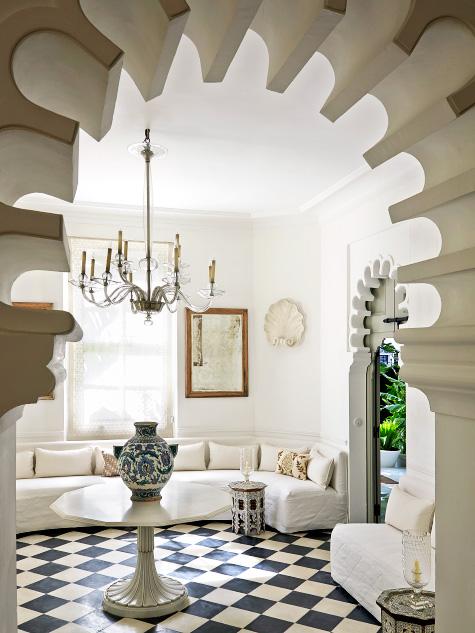 home of fashion mogul Pierre Bergé in Tangier, Morocco