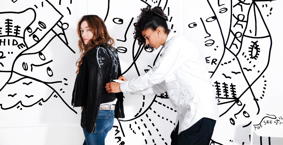 Kelly Wearstler and Shantell Martin