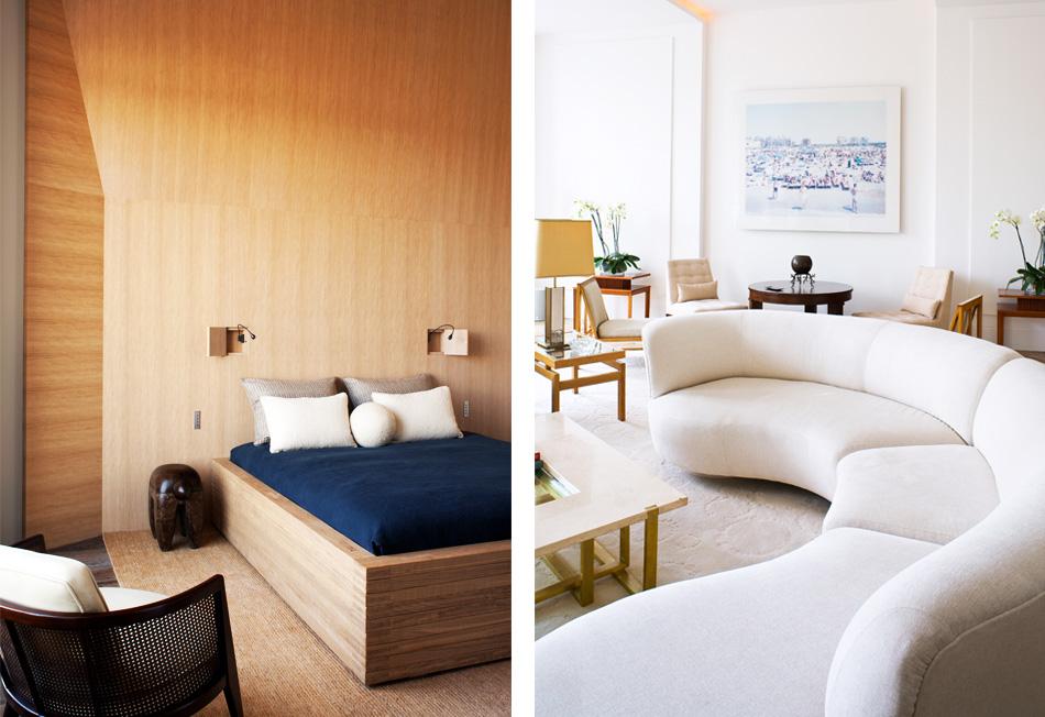 Yovanovitch's bedroom, living room overlooking the Seine, in Paris