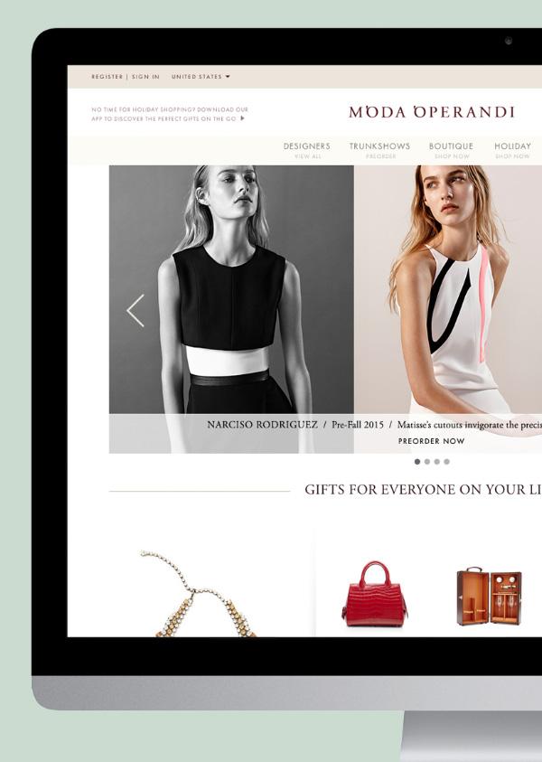 Moda Operandi's home page