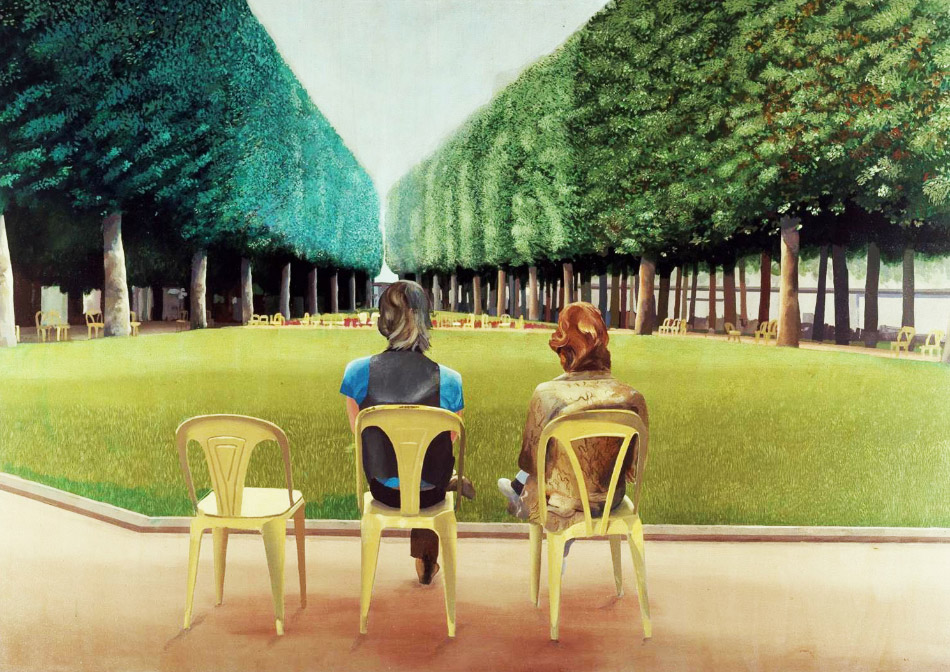 David Hockney's Le Parc Des Sources, Vichy, 1970, was the Duke and Duchess's first important art purchase.
