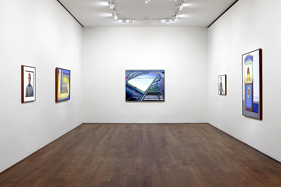 Even at 93, Thiebaud remains prolific; he created several of the works on display at Acquavella over the course of the past year.