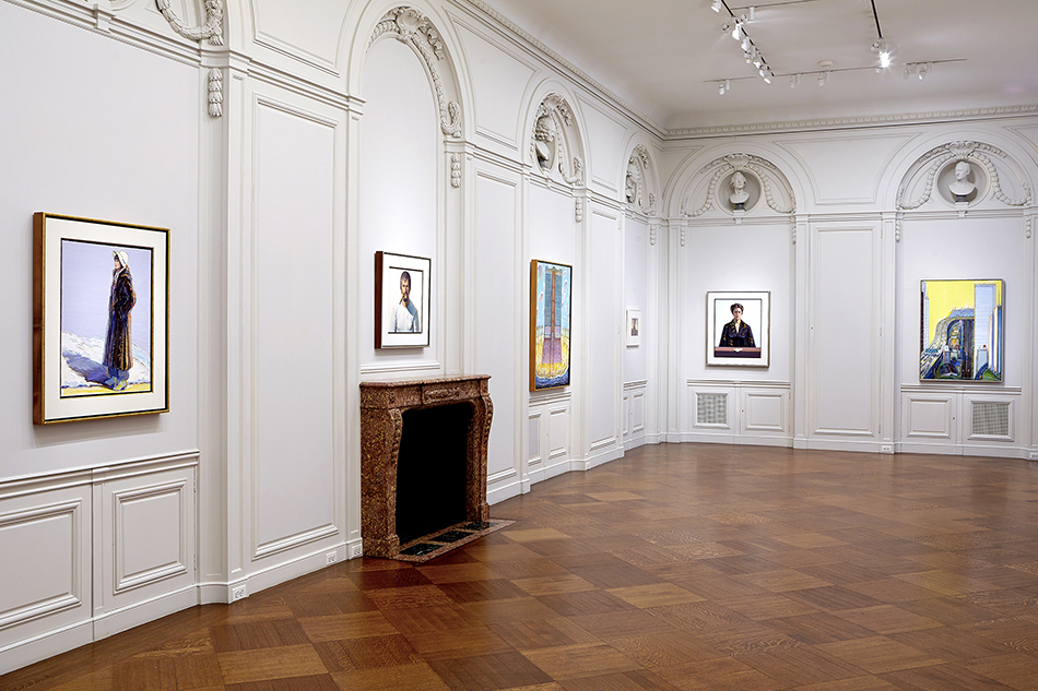 The retrospective, which includes a wide range of work going back to the 1950s up through today, takes up two of the five floors of Acquavella Galleries' French neoclassical town house.