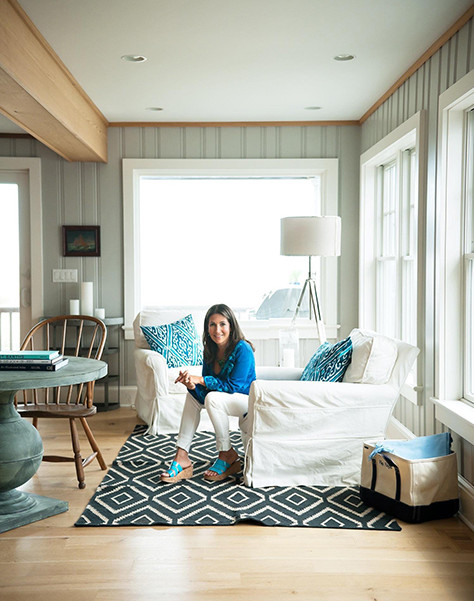 Brown's weekend home in Bay Head, New Jersey, reveals the same sort of simple style and casual sophistication that define her makeup brand.