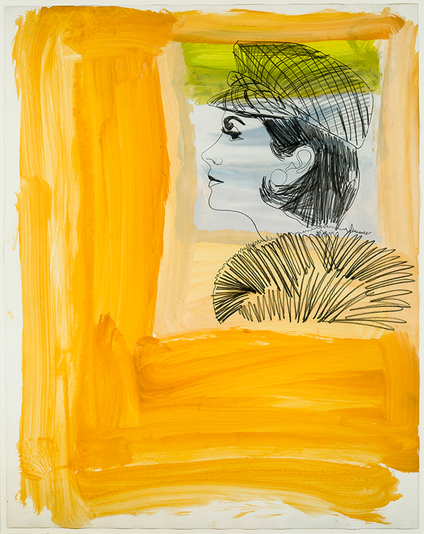 Untitled (Glamour Girl), 1961, is one of the pieces in Hirschl & Adler Modern's current show. Previous page: Untitled (Bang), 1960. All photos © 2014 The Andy Warhol Foundation for the Visual Arts, Inc. / Artists Rights Society (ARS), New York