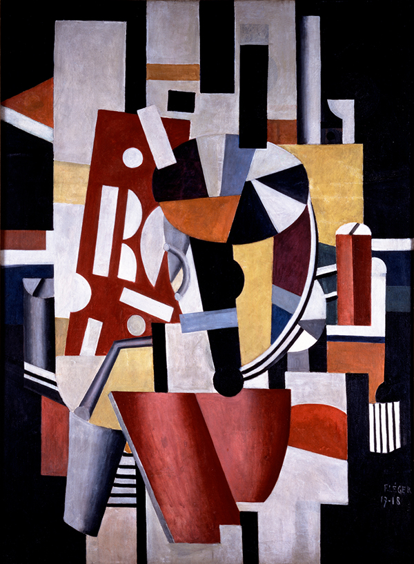 "The recent gift from Leonard Lauder — cosmetics scion, art collector and philanthropist — to New York's Metropolitan Museum of Art of nearly 80 Cubist pieces includes Fernand Léger's Le typographe (The Typographer), 1917-18. © 2013 Artists Rights Society (ARS), New York/ADAGP, Paris. Top: Lauder, here shown with the author, told The Times that his gift may grow: ""I'll continue to buy and add to the Met's collection,"" he said. ""But only if the right things come along."" Photo by Julie Skarratt"