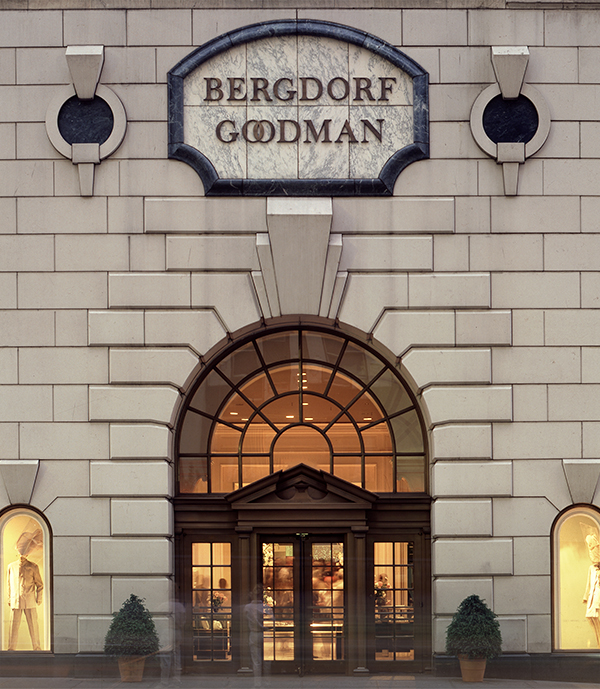 In 1983, Greenberg created a new Fifth Avenue entrance façade for luxury retailer Bergdorf Goodman, which had occupied its building since 1928. Photo by Peter Mauss/ESTO