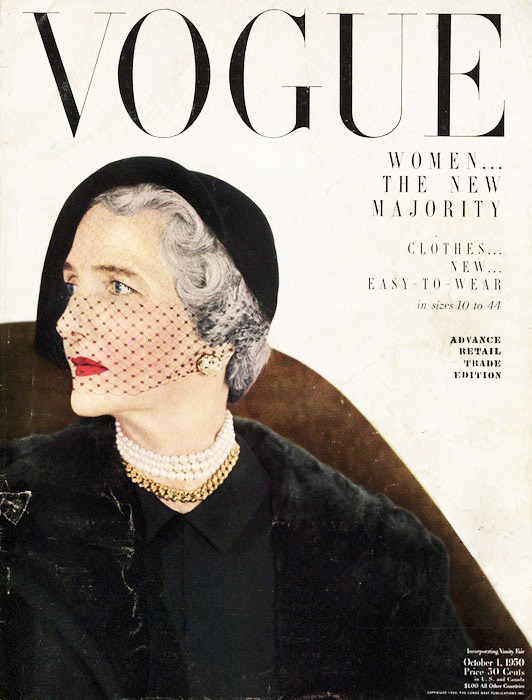 Webb's first magazine cover — for Vogue, no less — was in 1950, when the designer was only 25 years old. Horst/Vogue © Condé Nast