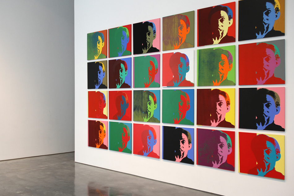 """Portrait of the Artist as a Young Man, 1994, was the first piece in Kass's """"Warhol Project."""""""