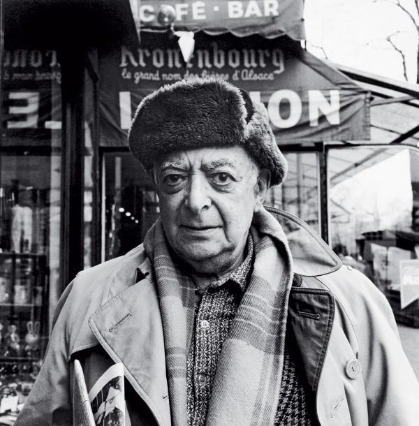 Hungarian-born photographer Brassaï in the Place Denfert-Rochereau, Paris, on the day Becker met him (November 1974)
