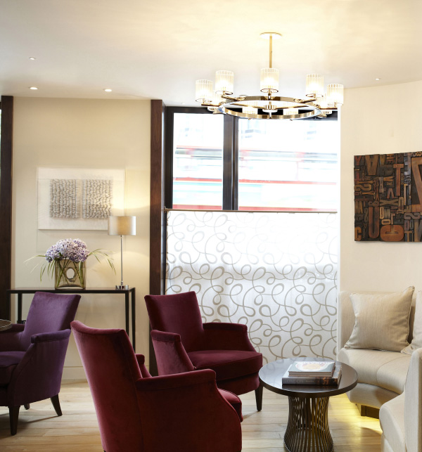The recently opened Lounge at One, in the Aldwych, exhibits artworks that reference the building's history as a newspaper office.