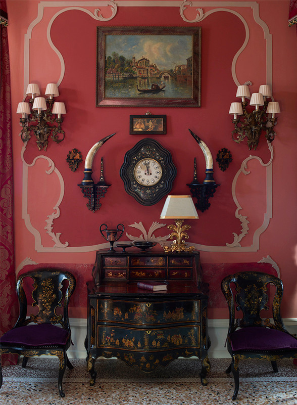 The Ruskin Suite, an homage to the Victorian-era aesthete, contains some of the Gritti's oldest antiques, dating to the building's days as a private palazzo.