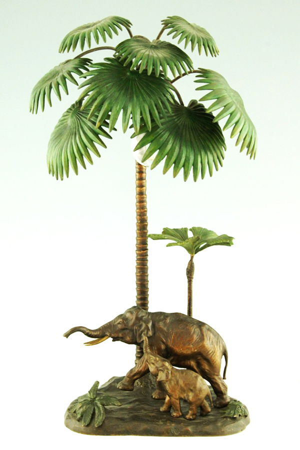 At the turn of the century, Orientalism was fashionable not just in painting, but also in decoration, as with this Vienna bronze lamp, 1900. Courtesy of Deconamic