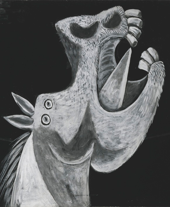 Head of a Horse, Sketch for Guernica, 1937. Photo © Archivo fotográfico Museo Nacional Centro de Arte Reina Sofía, Madrid