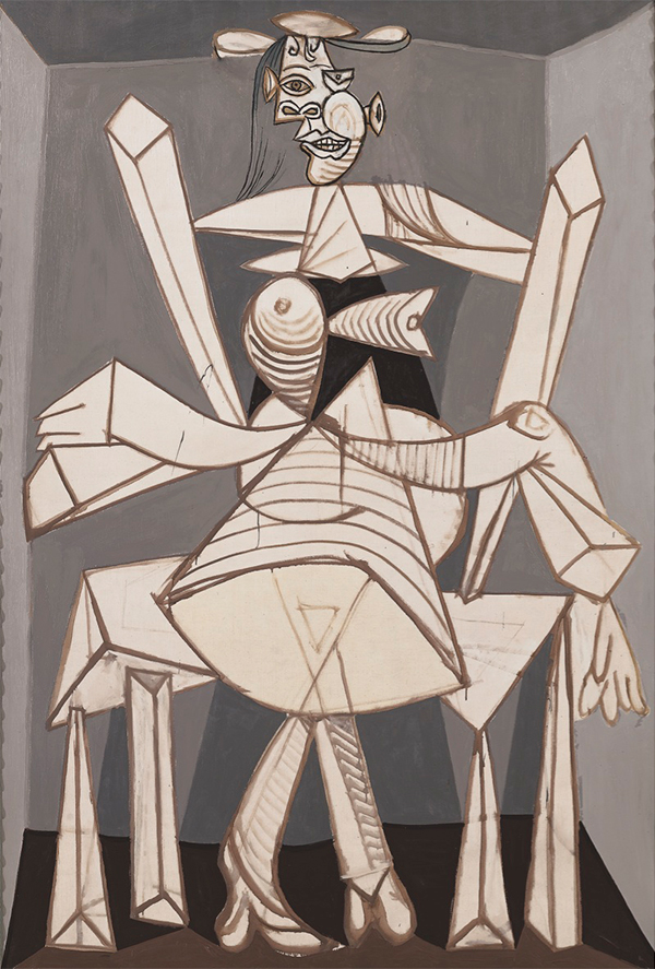 Seated Woman in an Armchair (Dora), 1938. Photo by Robert Bayer, Basel
