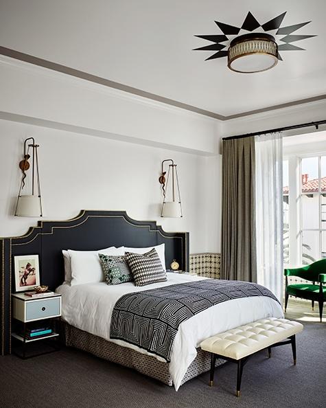 Designer Martyn Lawrence Bullard Hotel Californian Santa Barbara California Presidential Suite bedroom