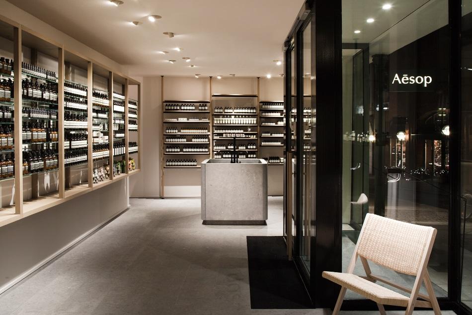Belgian designer Vincent Van Duysen Aesop store Frankfurt Germany