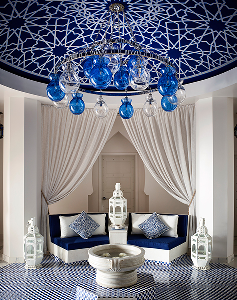 Designer Martyn Lawrence Bullard Hotel Californian Santa Barbara California spa lounge