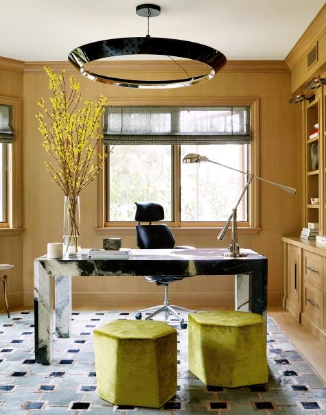 wood paneled office by Adam Hunter