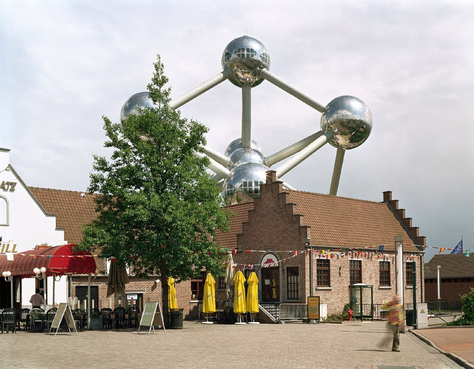 """Jade Doskow, Brussels 1958 World's Fair, """"A World View: A New Humanism,"""" Atomium, 2007"""