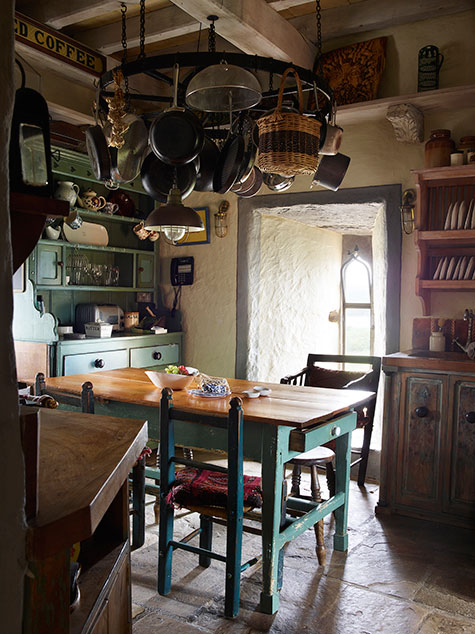 Kilcoe Castle kitchen