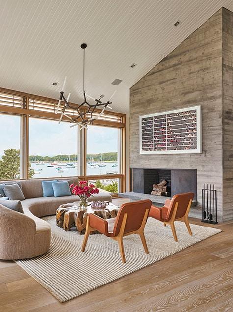 Woods Hole, Massachusetts, living room by Leroy Street Studio