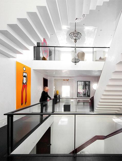 triple townhouse atrium by Leroy Street Studio
