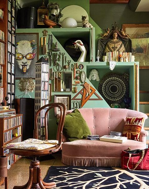 Barnaba Fornasetti's music room