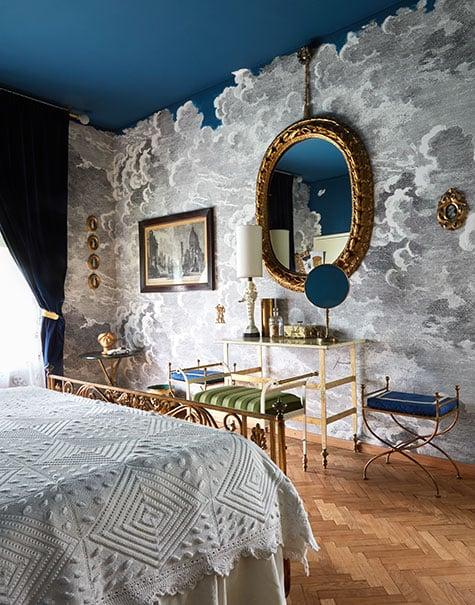 Master bedroom of Casa Fornasetti