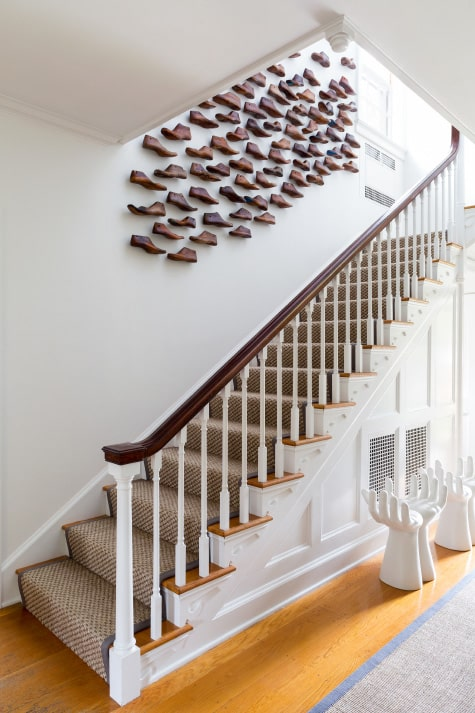 Litchfield Countryside Retreat Foyer Stairway by Chango & Co