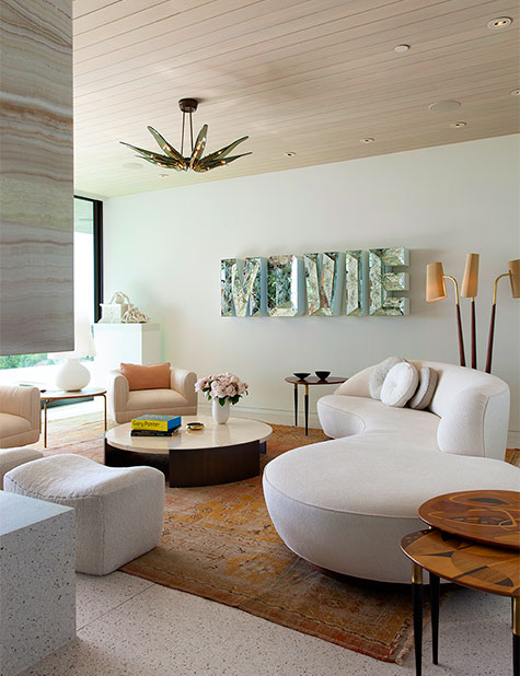 Beverly Hills living room by Marmol Radziner