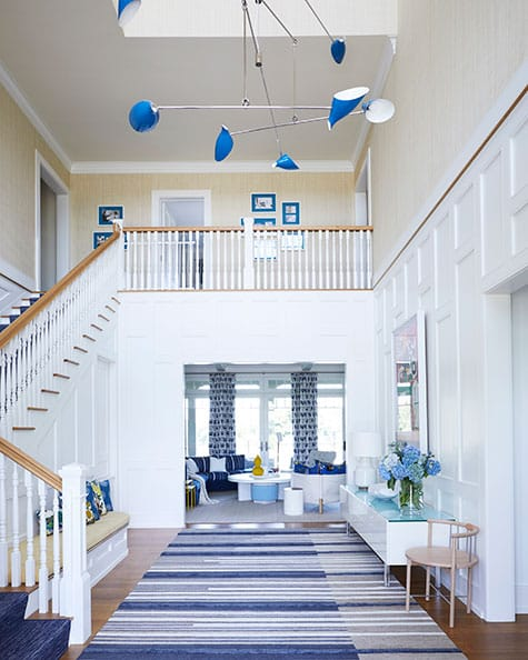 Bridgehampton entryway by Pepe Lopez