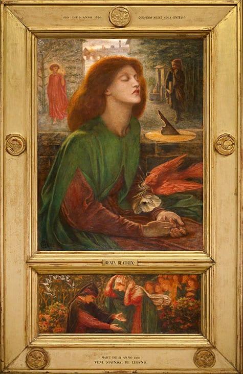 Beata Beatrix, 1864–70, by Dante Gabriel Rossetti