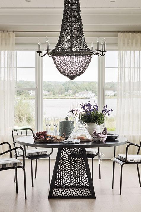 Sag Harbor dining room by Mark Epstein