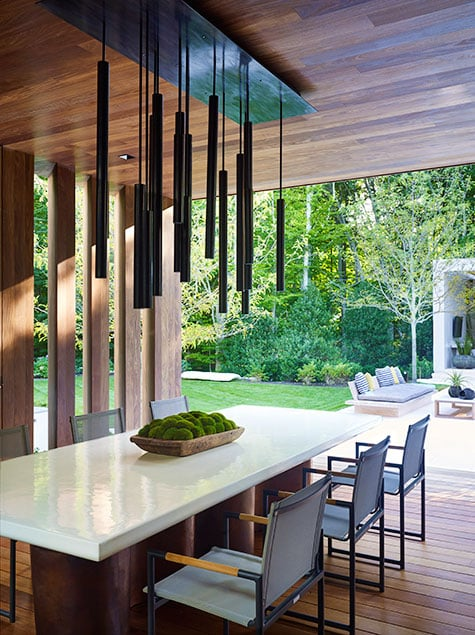 Outdoor dining area by Blaze Makoid
