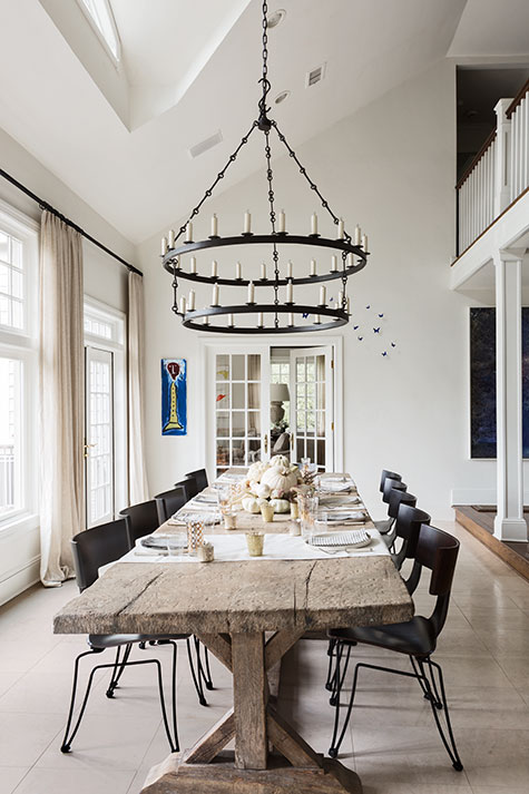 Long Island dining room by Mark Epstein