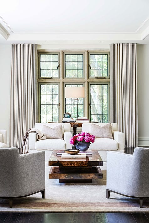 Living room by Julie Charbonneau Design