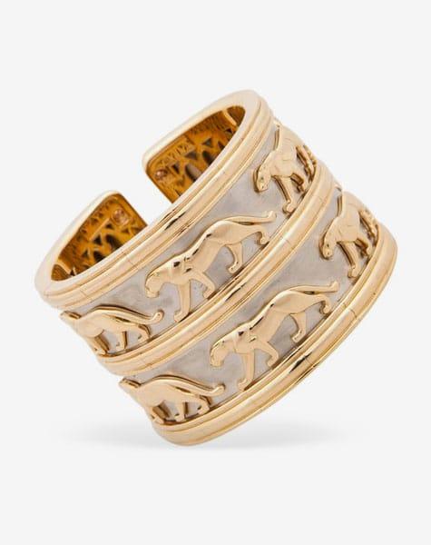 Cartier Panthère gold cuff bracelet