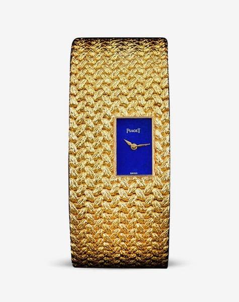 Piaget yellow gold and lapis lazuli wristwatch, ca. 1970