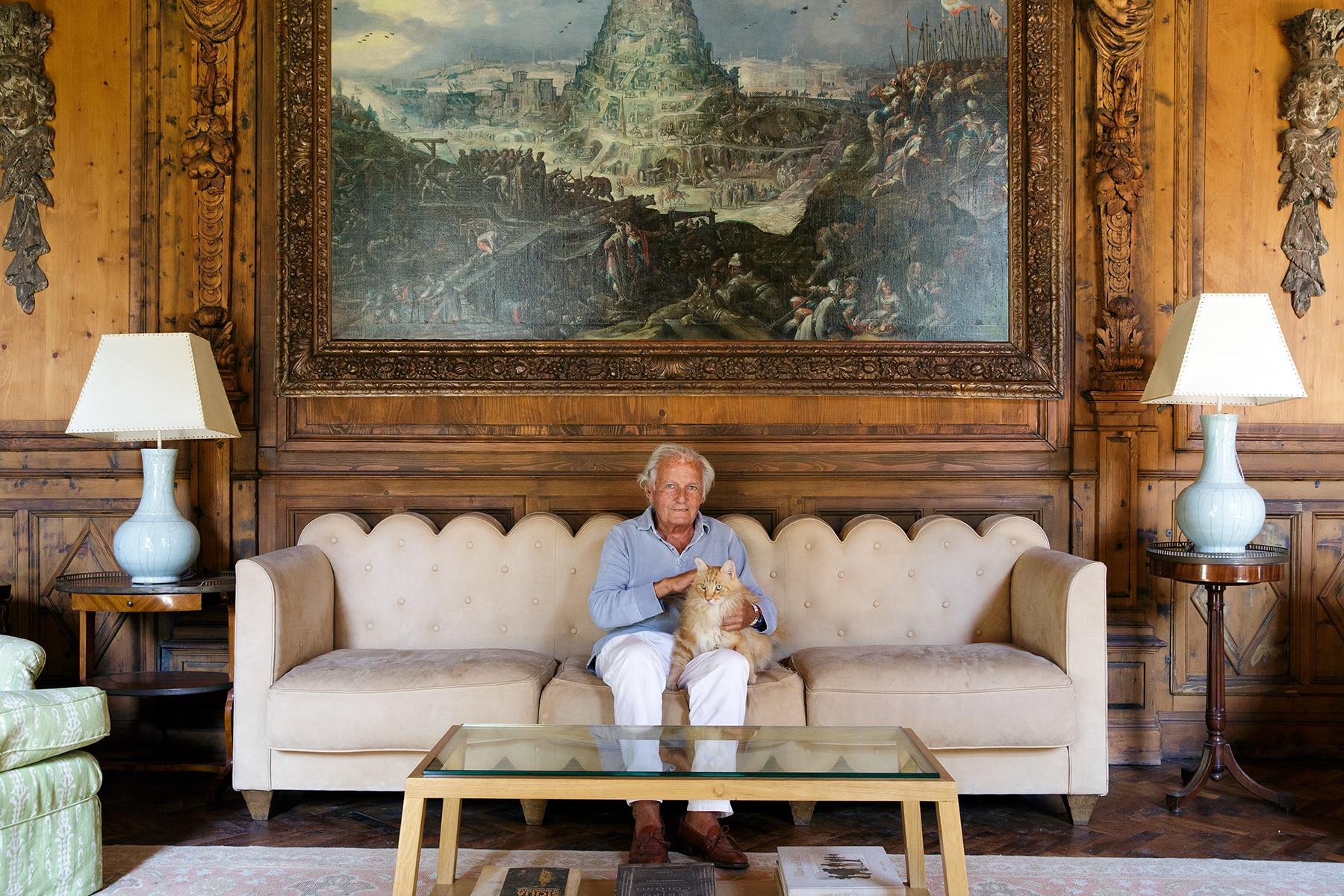 Piero Portaluppi Casa degli Atellani Milan study sofa Piero Castellini Baldissera