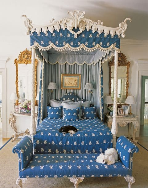 bedroom in Carolyne Roehm Design & Style: A Constant Thread book Rizzoli