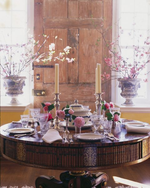 dining table Carolyne Roehm Design & Style: A Constant Thread book Rizzoli