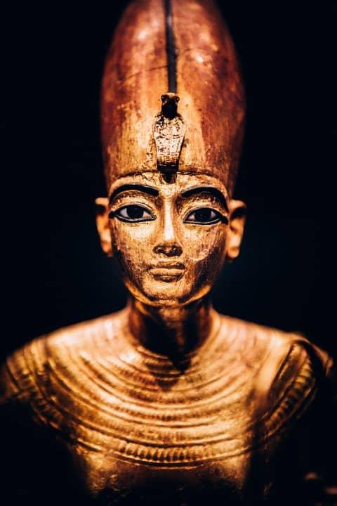 King Tut statue