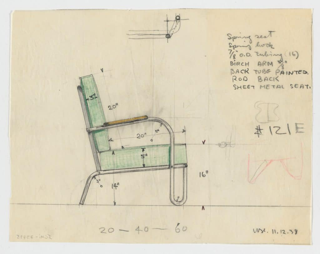 Modern by Design: Chicago Streamlines America Chicago History Museum Howell Company tubular steel chair drawing