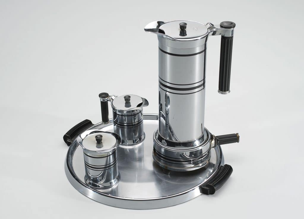 Modern by Design: Chicago Streamlines America Chicago History Museum Michael McArdle coffee set Chicago Flexible Shaft Company