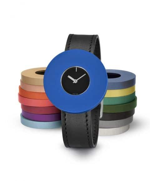 Designers Massimo and Lella Vignelli Halo watch