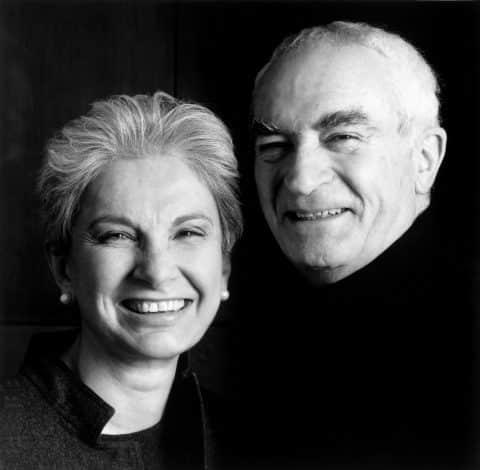 Designers Massimo and Lella Vignelli portrait