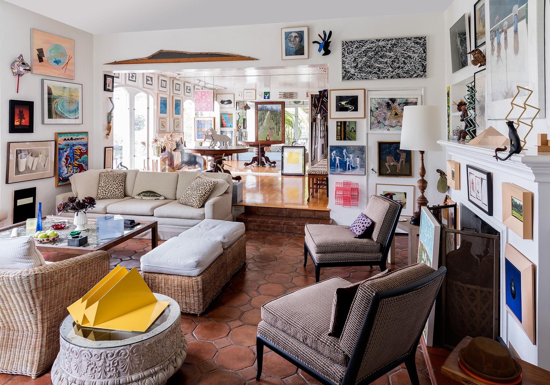 Don Bachardy's living room